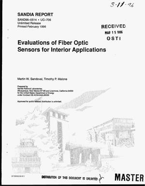 Primary view of object titled 'Evaluations of fiber optic sensors for interior applications'.