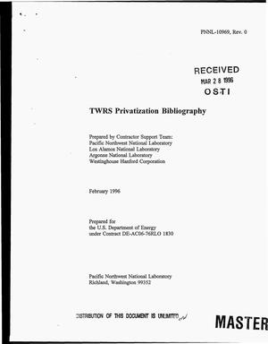 Primary view of object titled 'TWRS privatization bibliography'.