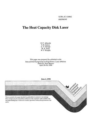 Primary view of object titled 'Heat capacity disk laser'.
