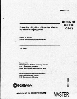 Primary view of object titled 'Probability of ignition of reactive wastes by rotary sampling drills'.