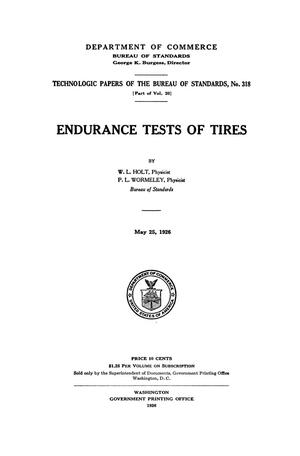Endurance Tests of Tires