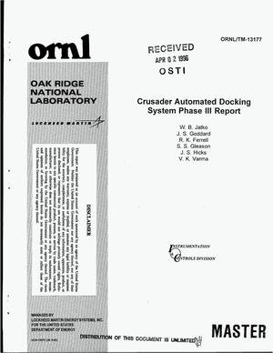 Primary view of object titled 'Crusader Automated Docking System Phase 3 report'.