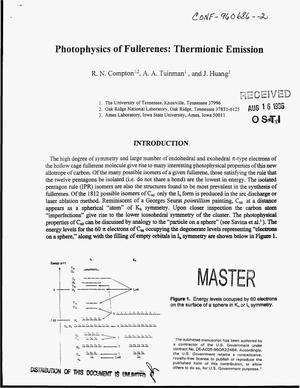 Primary view of object titled 'Photophysics of fullerenes: Thermionic emission'.