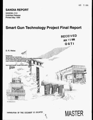 Primary view of object titled 'Smart Gun Technology project. Final report'.