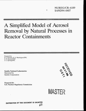 Primary view of object titled 'A simplified model of aerosol removal by natural processes in reactor containments'.