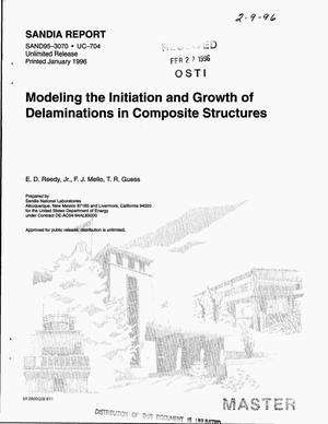 Primary view of object titled 'Modeling the initiation and growth of delaminations in composite structures'.