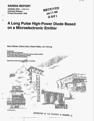 Primary view of object titled 'A long pulse high-power diode based on a microelectronic emitter'.
