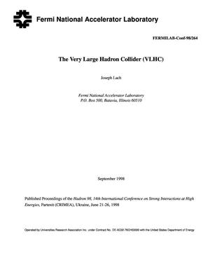 Primary view of object titled 'Very large hadron collider (VLHC)'.
