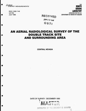 Primary view of object titled 'An aerial radiological survey of the Double Track Site and surrounding area. Central Nevada'.