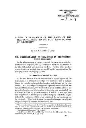 Primary view of object titled 'A New Determination of the Ratio of the Electromagnetic to the Electrostatic Unit of Electricity [Part 2]'.