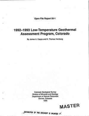 Primary view of object titled '1992--1993 low-temperature geothermal assessment program, Colorada'.