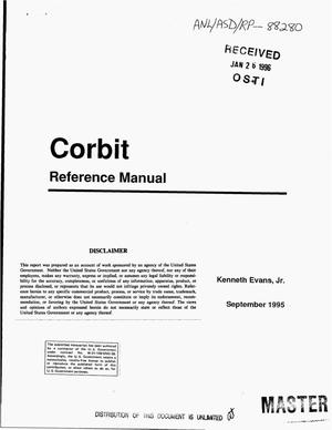 Primary view of object titled 'Corbit reference manual'.
