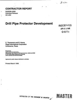 Primary view of object titled 'Drill pipe protector development'.