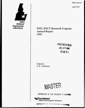 Primary view of object titled 'INEL BNCT research program: Annual report, 1995'.