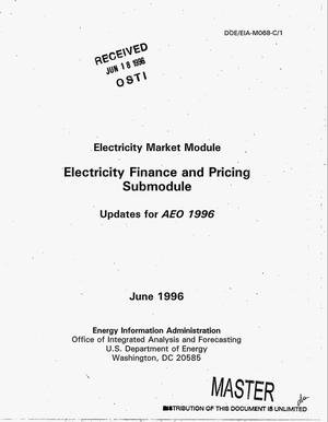 Primary view of object titled 'Electricity Market Module: Electricity finance and pricing submodule'.