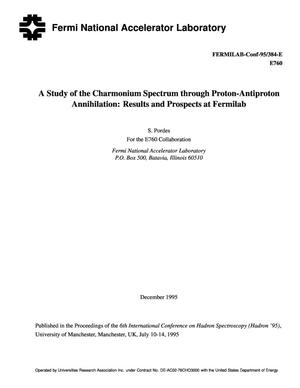 Primary view of object titled 'A study of the charmonium spectrum through proton-antiproton annihilation: Results and prospects at Fermilab'.