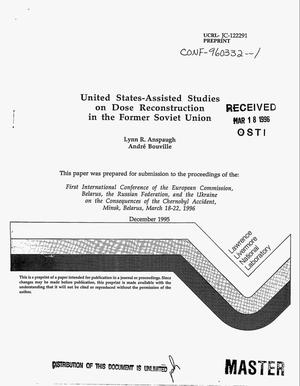 Primary view of object titled 'United States-assisted studies on dose reconstruction in the former Soviet Union'.
