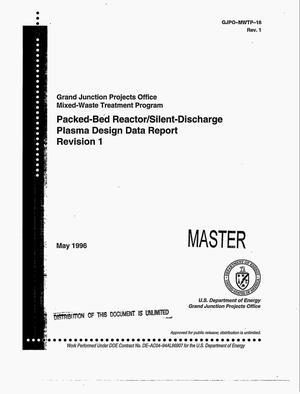 Primary view of object titled 'Packed-bed reactor/silent-discharge plasma design data report'.