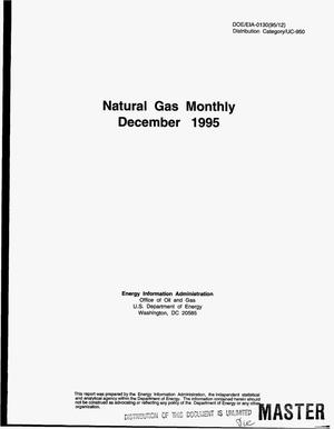 Primary view of object titled 'Natural gas monthly, December 1995'.