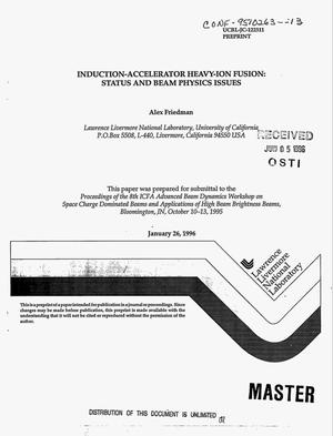 Primary view of object titled 'Induction-accelerator heavy-ion fusion: Status and beam physics issues'.