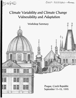 Primary view of object titled 'Climate variability and climate change vulnerability and adaptation. Workshop summary'.