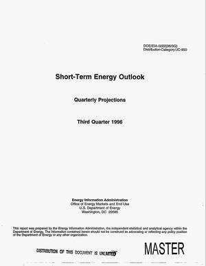 Primary view of object titled 'Short-term energy outlook. Quarterly projections, third quarter 1996'.