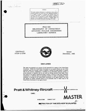 Primary view of object titled 'Bibliography of Connecticut Advanced Nuclear Engineering Laboratory reports'.