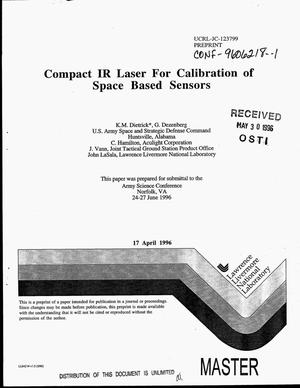 Primary view of object titled 'Compact IR laser for calibration of space based sensors'.
