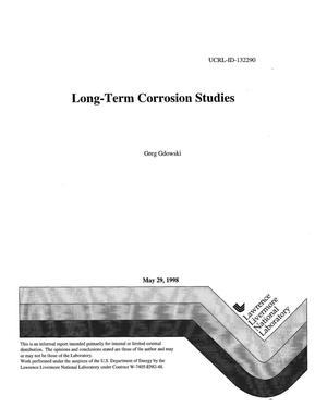 Primary view of object titled 'Long-term corrosion studies'.