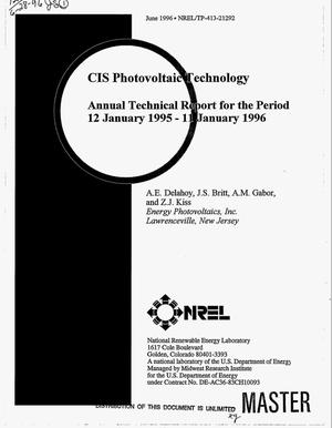 Primary view of object titled 'CIS photovoltaic technology. Annual technical report, January 12, 1995--January 11, 1996'.