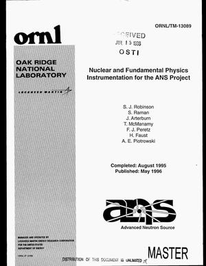 Primary view of object titled 'Nuclear and fundamental physics instrumentation for the ANS project'.