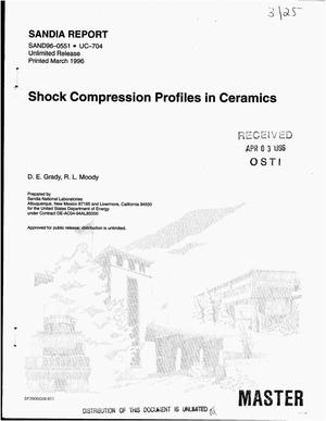 Primary view of object titled 'Shock compression profiles in ceramics'.