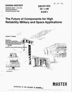 Primary view of object titled 'The future of components for high reliability military and space applications'.