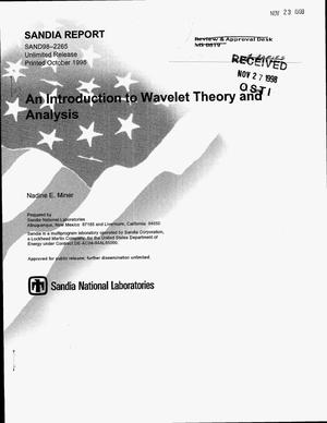Primary view of object titled 'An Introduction to Wavelet Theory and Analysis'.
