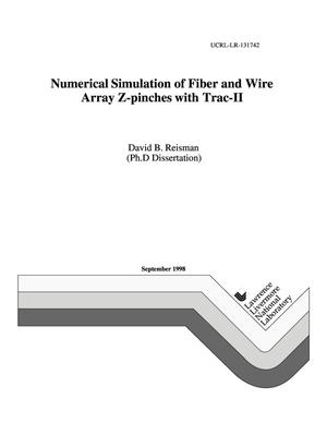 Primary view of object titled 'Numerical simulation of fiber and wire array Z-pinches with Trac-II'.