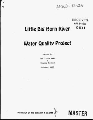 Primary view of object titled 'Little Big Horn River Water Quality Project'.