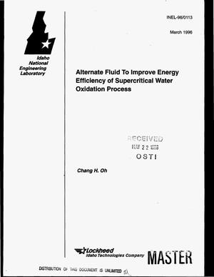Primary view of object titled 'Alternate fluid to improve energy efficiency of supercritical water oxidation process'.
