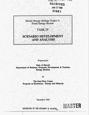 Primary view of object titled 'Hawaii Energy Strategy Project 2: Fossil Energy Review. Task IV. Scenario development and analysis'.