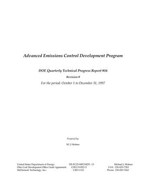 Primary view of object titled 'Advanced Emissions Control Development Program'.