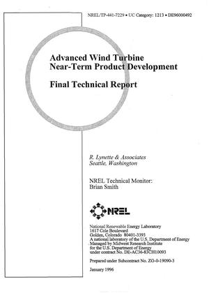Primary view of object titled 'Advanced wind turbine near-term product development. Final technical report'.
