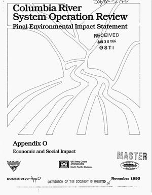 Primary view of object titled 'Columbia River System Operation Review : Final Environmental Impact Statement, Appendix O: Economic and Social Impact.'.
