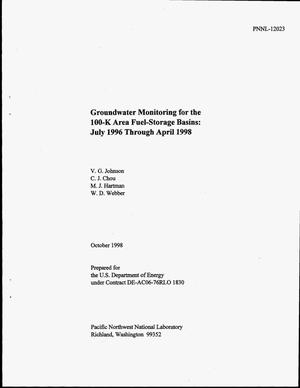 Primary view of object titled 'Groundwater Monitoring for the 100-K Area Fuel-Storage Basins: July 1996 Through April 1998'.