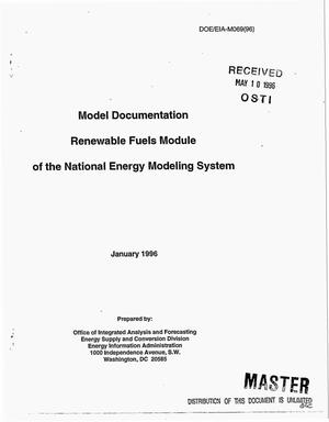Primary view of object titled 'Model documentation Renewable Fuels Module of the National Energy Modeling System'.