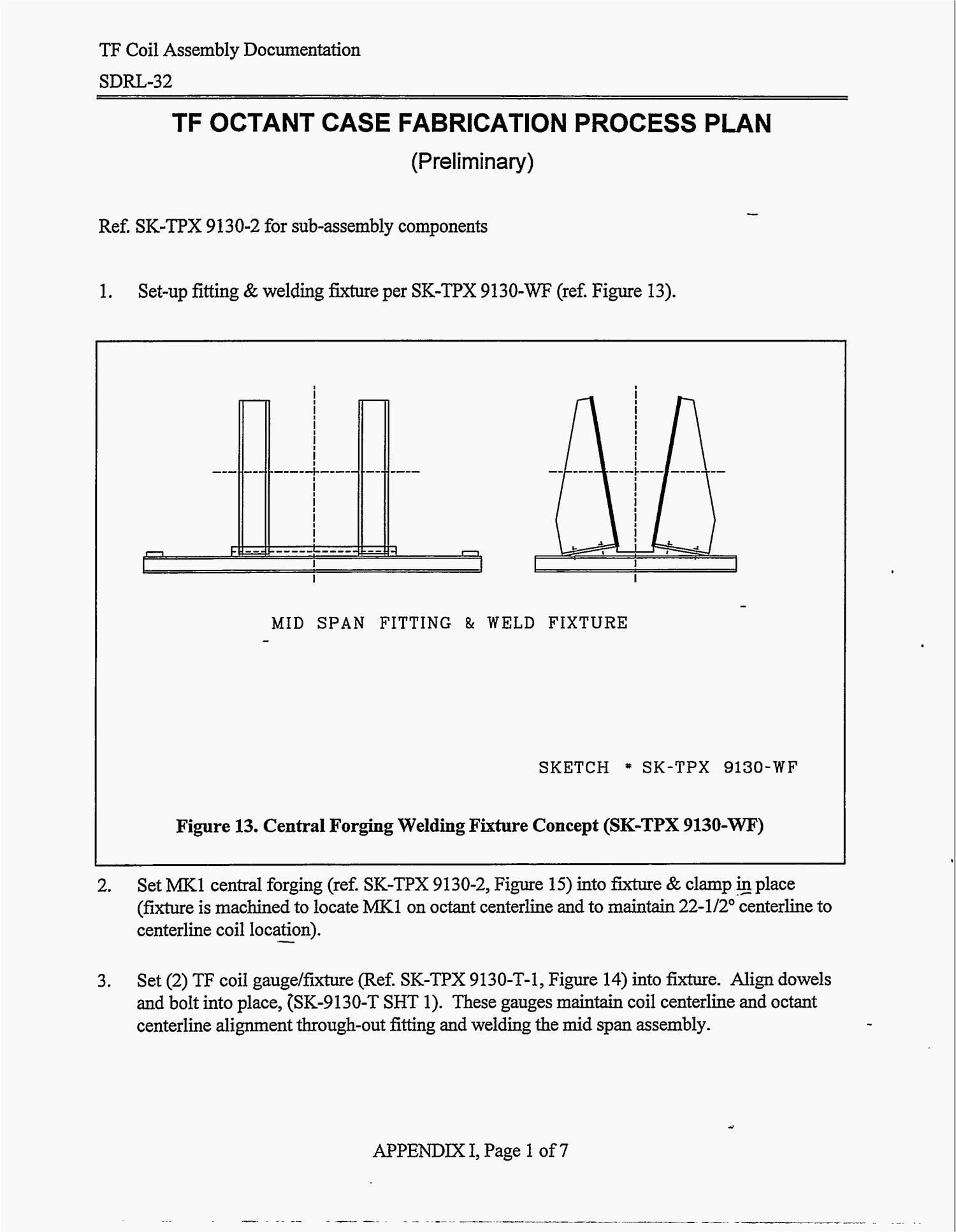 Tokamak Physics Experiment Tpx Toroidal Field Magnet Design Forge Welding Diagram Development And Manufacture Sdrl 32 Coil Assembly Documentation