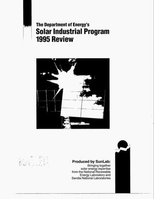 Primary view of object titled 'The Department of Energy`s Solar Industrial Program: 1995 review'.