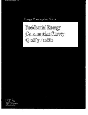 Primary view of object titled 'Residential Energy Consumption Survey: Quality Profile'.