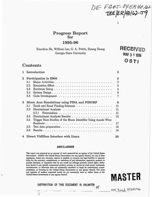 Primary view of object titled 'Progress report for 1995-1996'.
