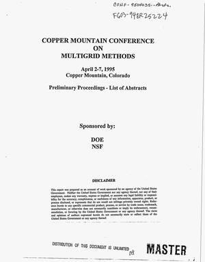 Primary view of object titled 'Copper Mountain conference on multigrid methods. Preliminary proceedings -- List of abstracts'.