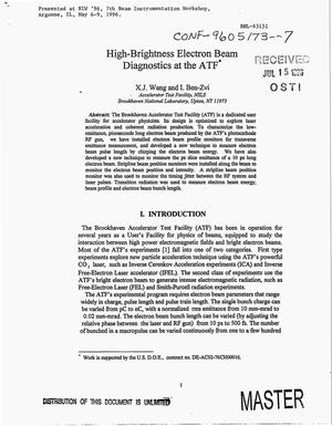 Primary view of object titled 'High-brightness electron beam diagnostics at the ATF'.
