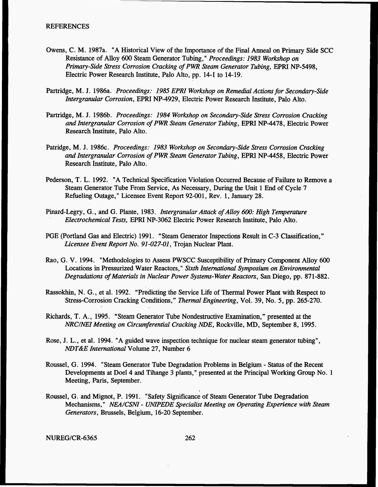 Steam generator tube failures Page 297 of 307 Digital Library